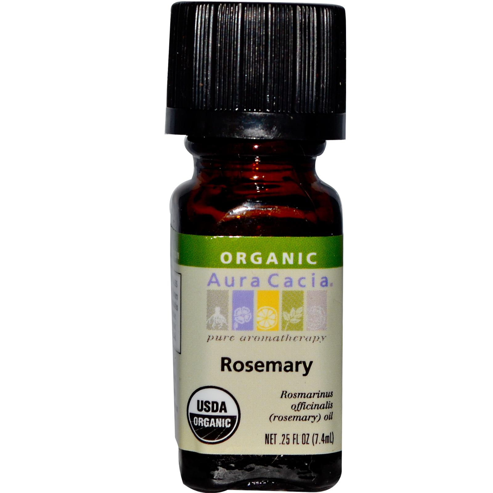 Organic Essential Oil - Aura Cacia - Rosemary - 0.25 fl. oz. rosemary organic essential oil
