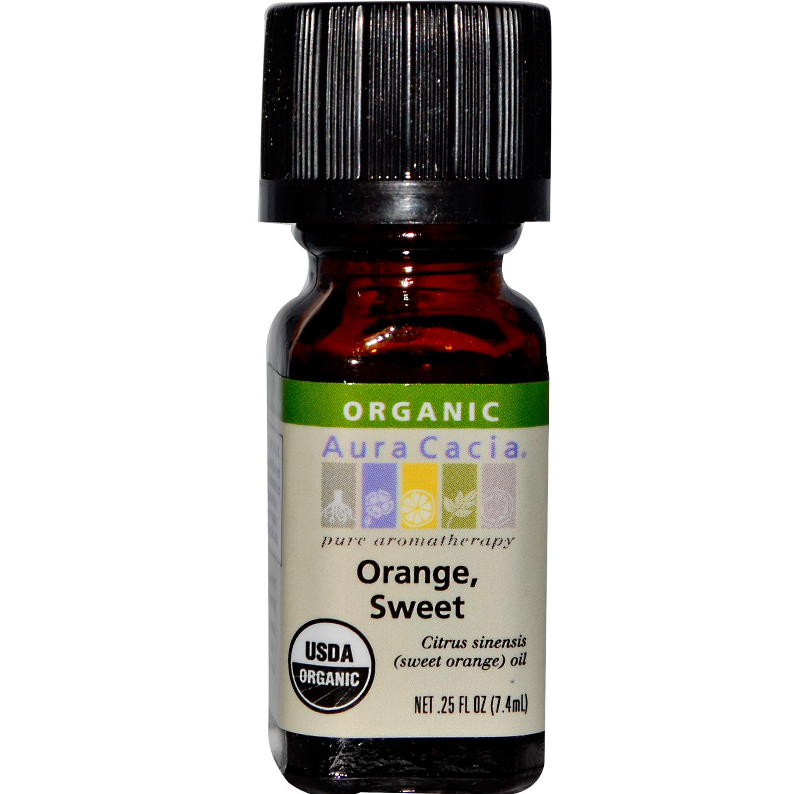 Organic Essential Oil - Aura Cacia - Sweet Orange - 0.25 fl. oz. orange organic essential oil