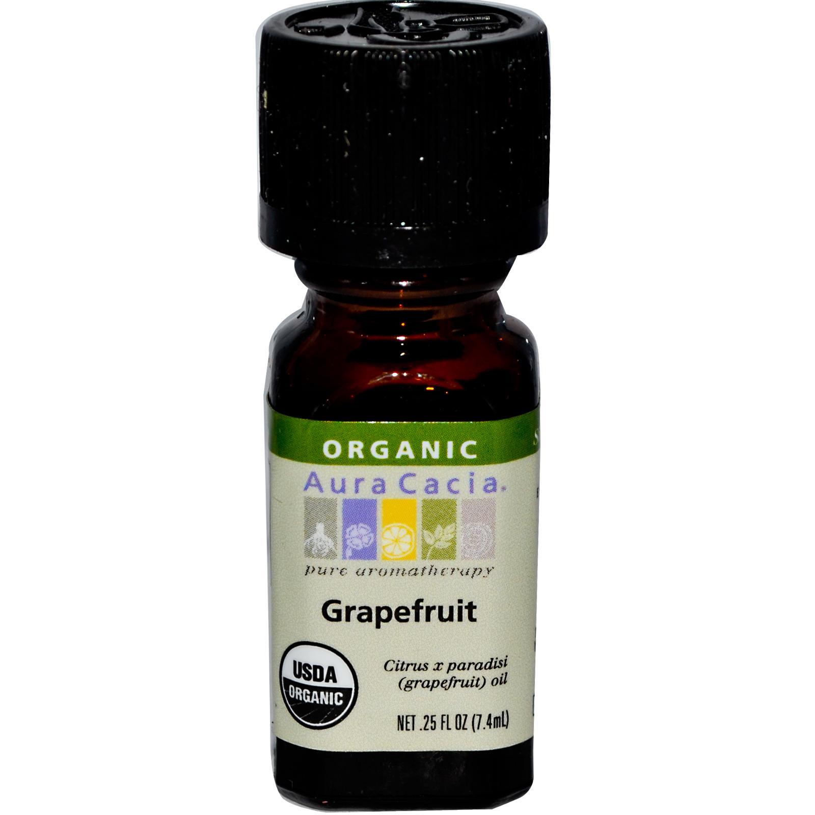 Organic Essential Oil - Aura Cacia - Grapefruit - 0.25 fl. oz.