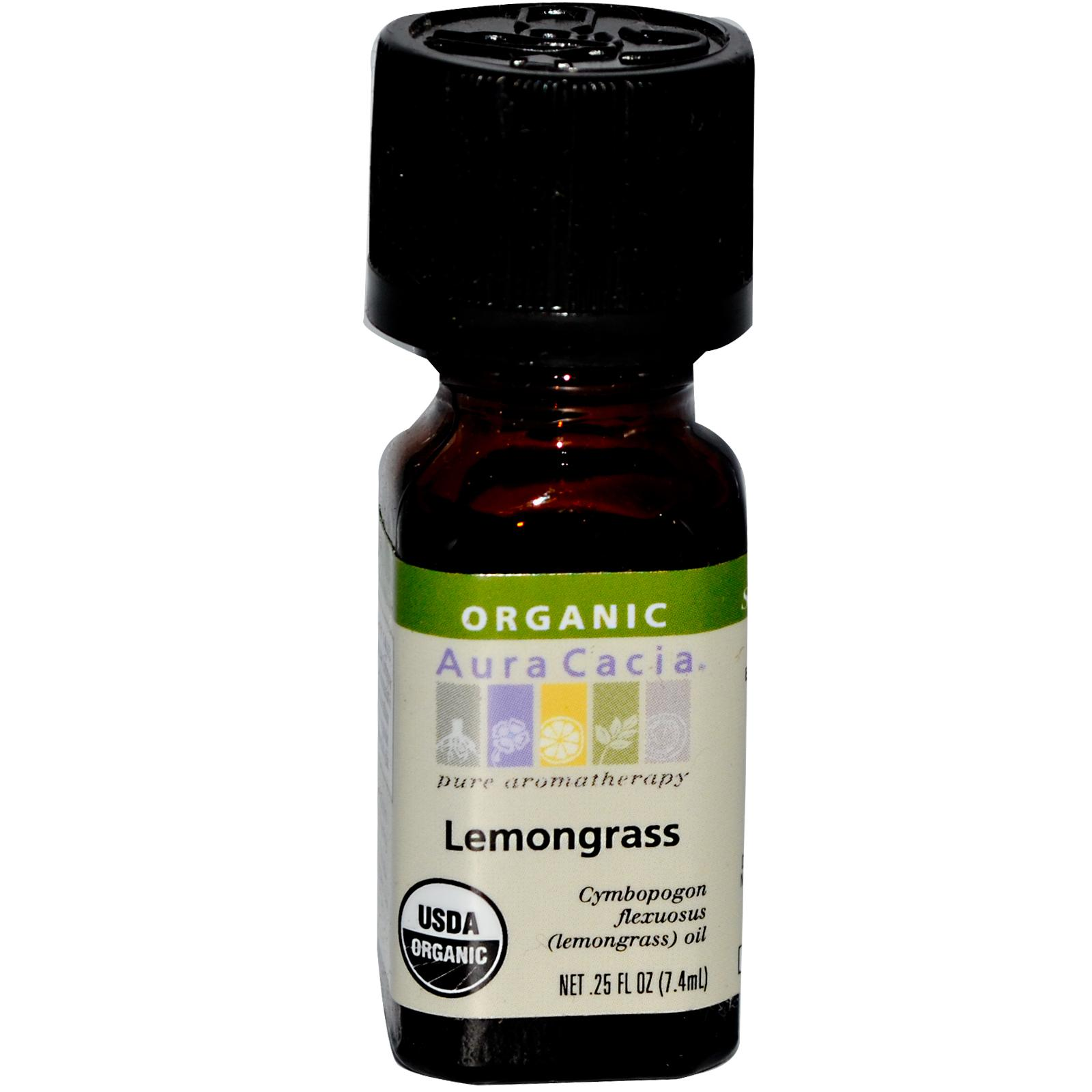 Organic Essential Oil - Aura Cacia - Lemongrass - 0.25 fl. oz.