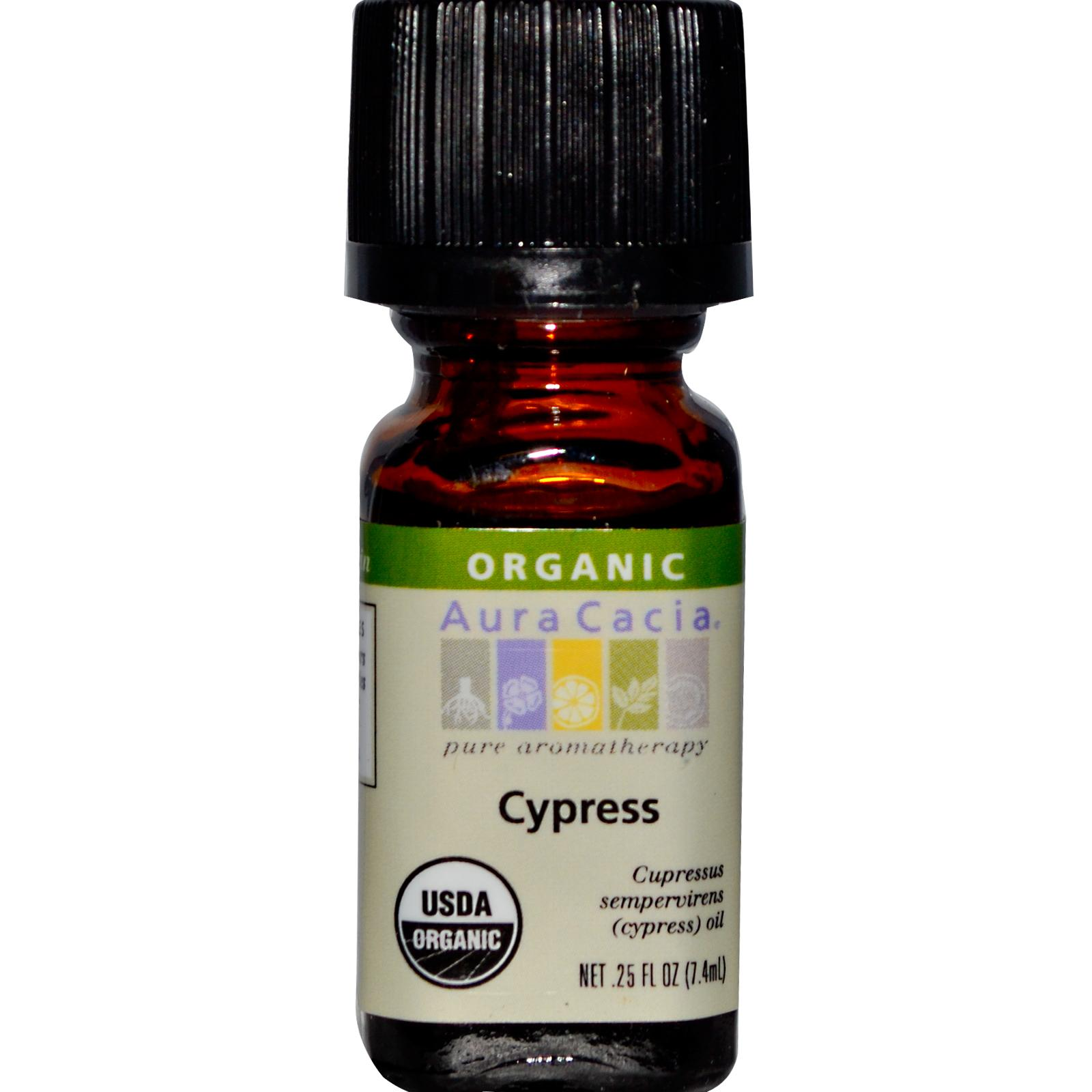 Organic Essential Oil - Aura Cacia - Cypress - 0.25 fl. oz.