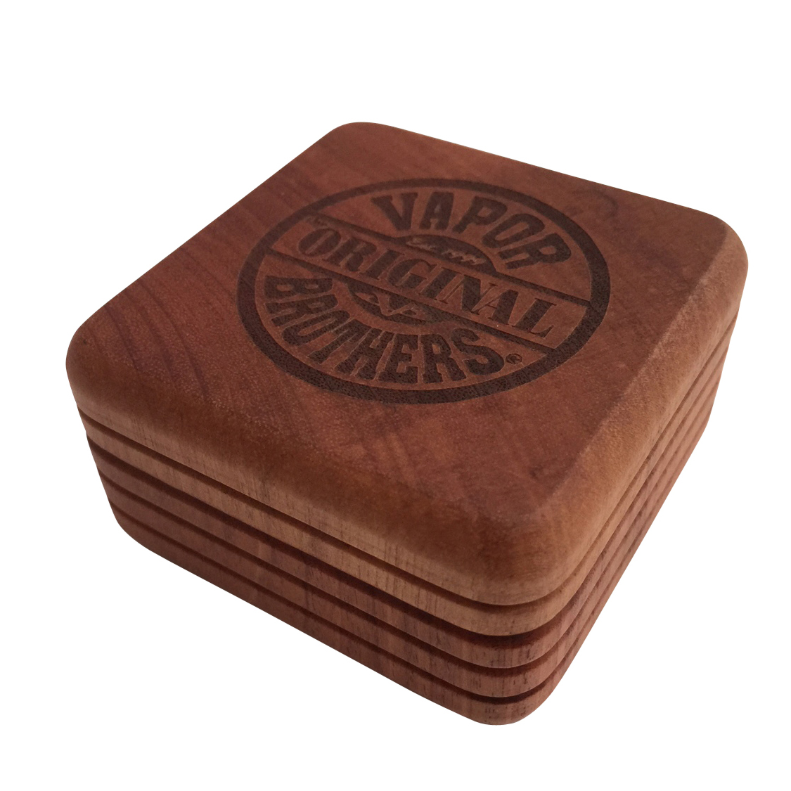 Vaporbrothers 2 pc All-Hardwood 2 Inch Magnetic Grinder - Limited Edition with Ryot